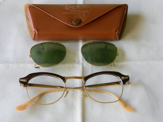 76117effb93 True Vintage Rare Bausch and Lomb eyeglasses gold filled 1 10