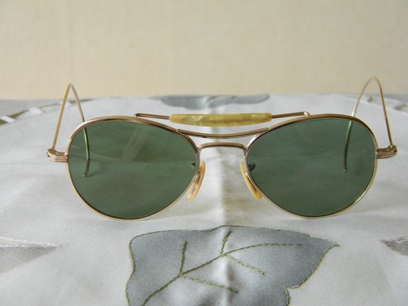 f2f3c7df52 Vintage Visionade 1 10 12K GF Pilot Aviator WWII Sunglasses
