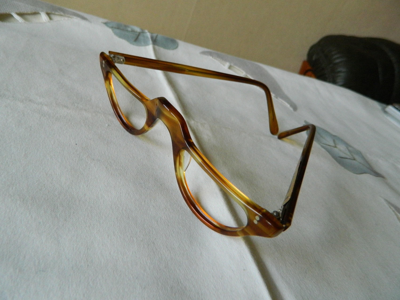 True Vintage Raro falso tortuga Shell gafas de media luna.