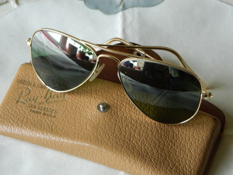 9039dd02117 True vintage rare Ray Ban B L 1 10-12 k gold filled 52 mm