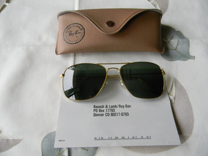 eb70412af93 Original Vintage B L Ray Ban CARAVAN 58-14 Sunglasses Very