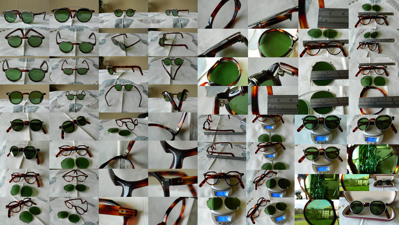 True Vintage Raro Grueso 4 mm Hecho a mano gafas de acetato