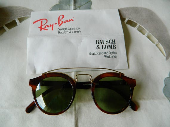 VINTAGES Rare Ray Ban Gatsby Style 4 RB 3 lentilles vertes   Etsy 05a0212dbc8e