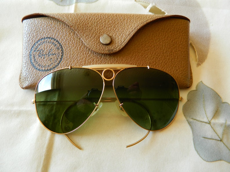 c4d410ff9e True Vintage Rare Ray-Ban Bausch And Lomb Shooting Glasses In