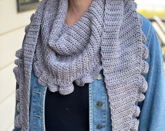 Provence Ruffled Shawl crochet pattern by MadameStitch; Womens Accessory; Spring Shawl; PDF Download Only
