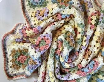 Farmhouse Granny Baby Blanket; PDF Download Only; Granny Square blanket; Crochet pattern; Crochet baby blanket pattern