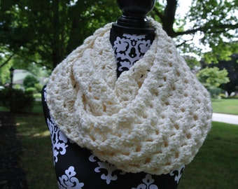 Chunky Crochet Infinity Scarf Pattern - PDF Download Only; Oversized Cowl; Women's Winter Scarf; PATTERN - PDF Instant Download