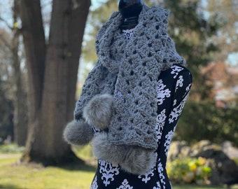 Drunken Granny Scarf Crochet Pattern; Winter Women's Accessory; PDF Download only; Crochet Scarf