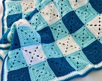 Granny Gingham Baby Blanket; Crochet Pattern; Baby Blanket Pattern; Pdf Download Only; Granny Square Baby Blanket