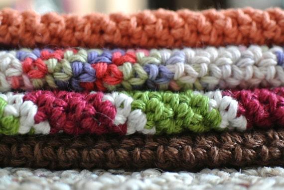 Diagonal Crochet Potholder Pattern Pdf Download Only Double Thick