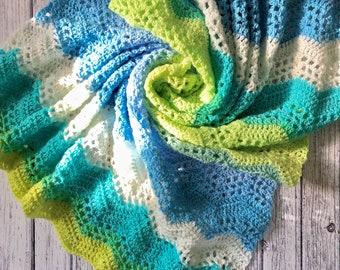 Ripple Baby Blanket Pattern; Crochet Pattern; Crochet Blanket; PDF Download only