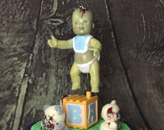 "Musical Zombie Spinning ""Playmates"" Enesco Brand Song Movie Prop Horror Decor Original Biohazard Baby"