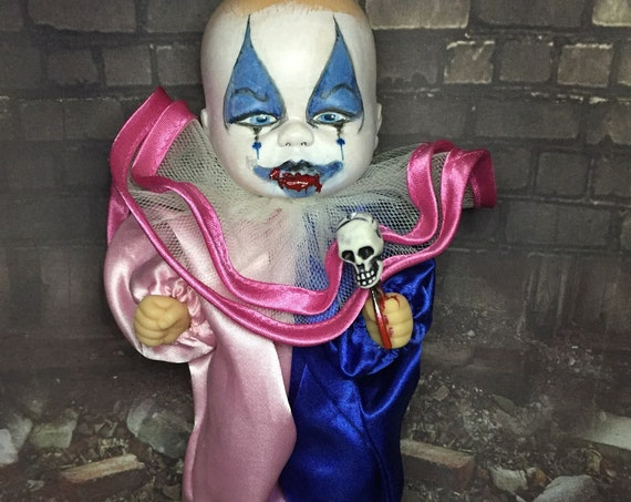 Original Cannibal Killer Clown With Custom Sharp Teeth Serial Culture Undead Biohazard Baby