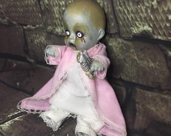 Bedtime Undead Original Mini Zombie With Headless Skeleton Torso Dolly Biohazard Baby