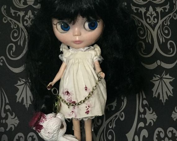 Alice In Wonderland Blythe Style Doll Dark Alice Original Undead Legend White Rabbit Lewis Carroll Fairytale Biohazard Baby