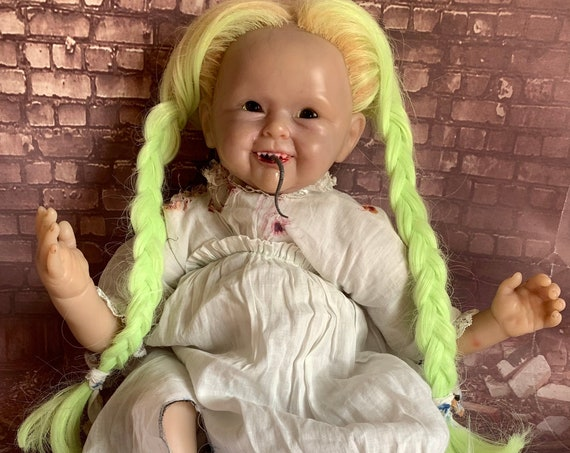 Original Undead Appalachian Mountain Country Settler Infant Wendigo Inspired Custom Eyes Sharp Teeth Cannibal Biohazard Baby