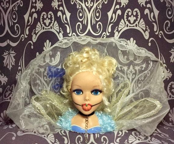 Cinderella Adult BDSM After Dark Submissive Velvet Collar Princess Pumpkin Ball Gag Original Legend Biohazard Bust