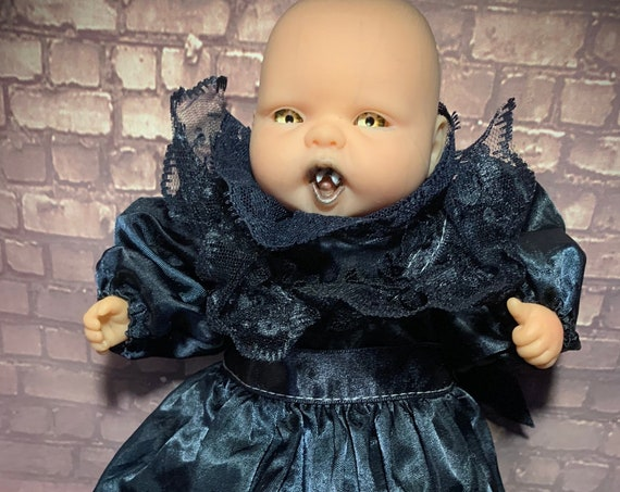 Original Undead Victorian Vampire Ready To Feed Fangs Out Custom Eyes Biohazard Baby