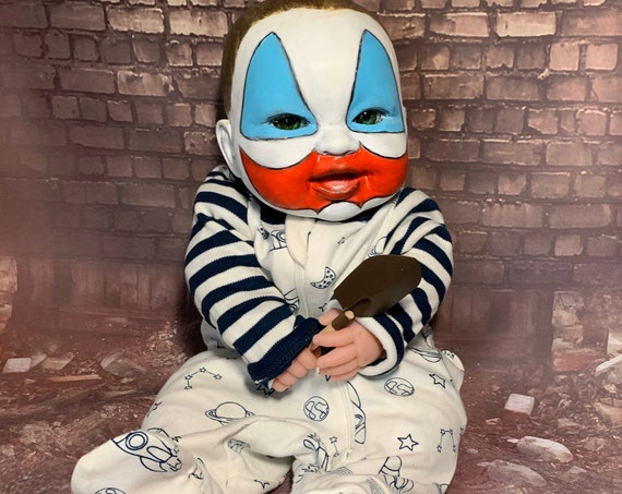 Original Serial Killer Culture Baby Pogo The Clown Dressed For Bed John Wayne Gacy With Toy Shovel Biohazard Baby