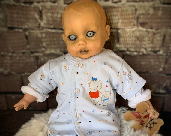Original Undead Dressed For Bed Custom Eyes Zombie With Mini Dead Best Friend Plush Bear Biohazard Baby