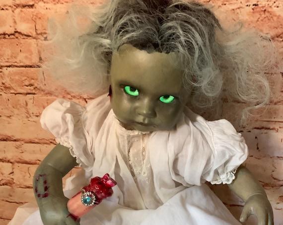 Original Undead Reborn Zombie Custom Follow Glow Eyes Magnetic Ringed Finger Food  Infected Biohazard Baby