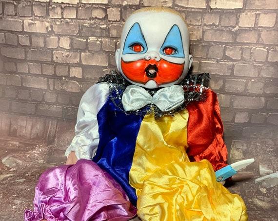 Baby Pogo The Clown Serial Killer Culture Custom Eyes Berenguer Brand Gacy Death Row XPW Wrestling Biohazard Baby