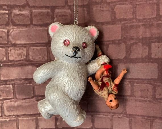 Original Winter White Murder Bear With Prey Ornament Biohazard Baby