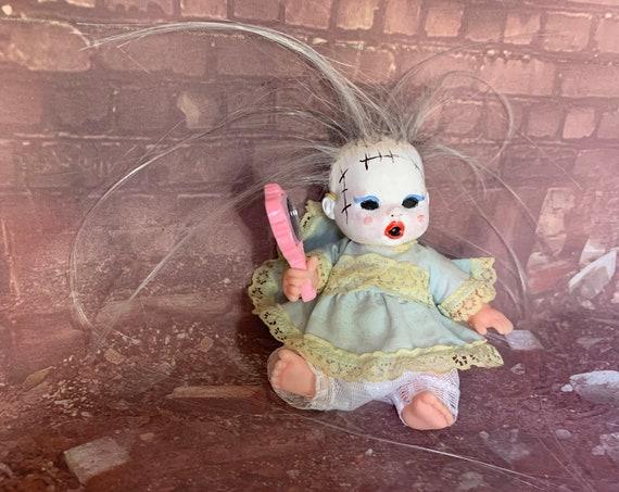 Original Undead Mini Doll Set Butcher Baby Leatherface Fan Custom Hand Mirror Reflection Serial Killer Texas Chainsaw Biohazard Baby
