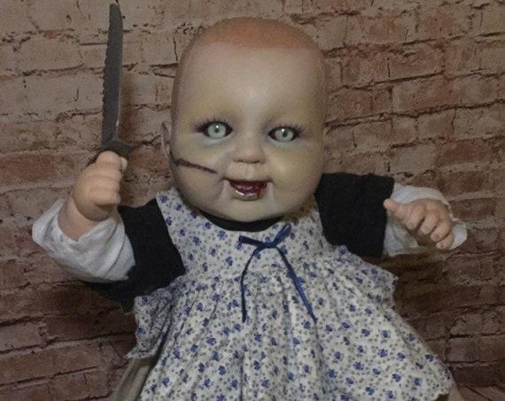 Country Cannibal Original Undead Serial Killer With Serrated Blade Custom Eyes Sharp Teeth Hungry Hunter Biohazard Baby