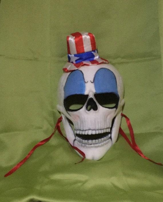 Captain Spaulding Skull Mask Dia De Los Muertos Zombie Undead Biohazard Baby Purge Mask