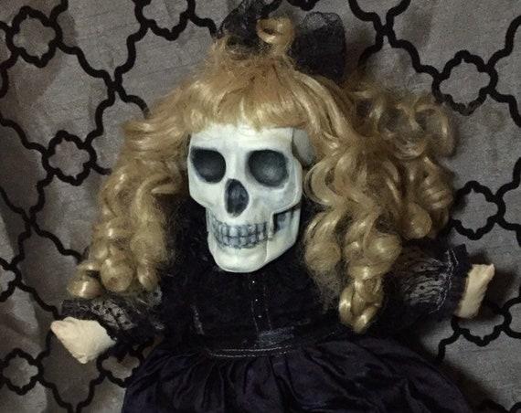 Original Plush Dead Skull Victorian Mourning Biohazard Baby