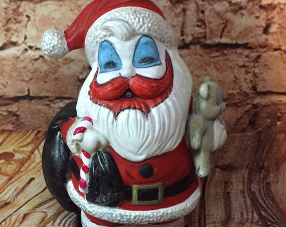 Santa Pogo Piggy Bank Porcelain Serial Killer Culture Killer Clown Death Row John Wayne Gacy Biohazard Baby