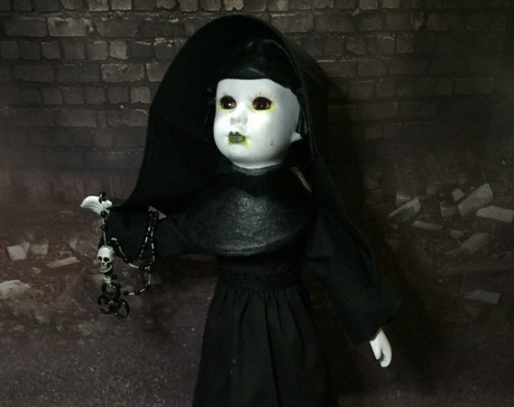 Post Apocalyptic Global Warming Is Real Undead Toxic Nun Infected Crying Original Porcelain Biohazard Baby