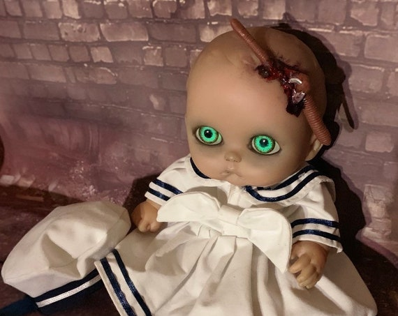 Original Undead Berenguer Hooked Zombie With Worm Dressed Sailor Custom Glow In The Dark Eyes Biohazard Baby