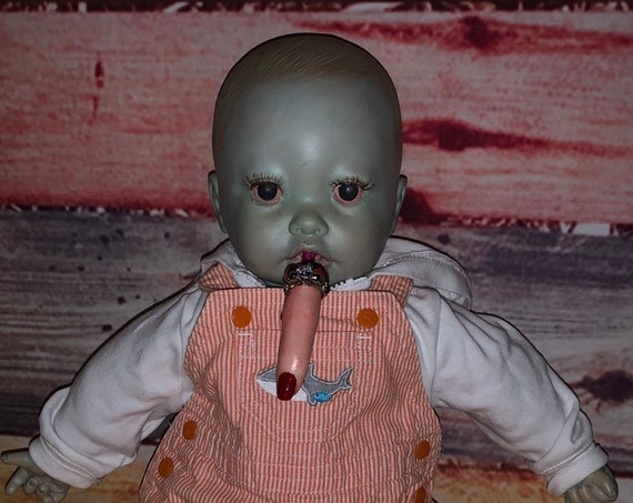 Animatronic Undead Crying Sucking Snoring Open Close Eyes Zombie Ringed Finger Glow Eyes Biohazard Baby Free Worldwide Shipping Limited Time