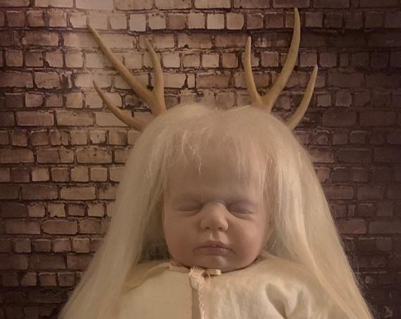Original Undead Reborn Fantasy Antler Horror Delicate Sleeping Biohazard Baby