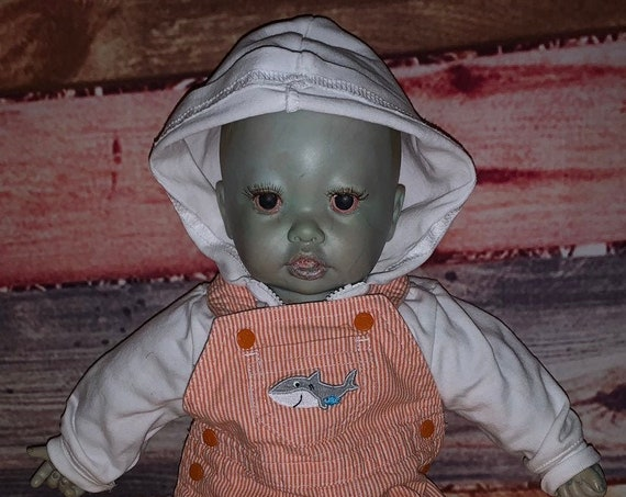 Animatronic Undead Crying Sucking Snoring Open Close Eyes Zombie Ringed Finger Glow Eyes Biohazard Baby Free Shipping in United States