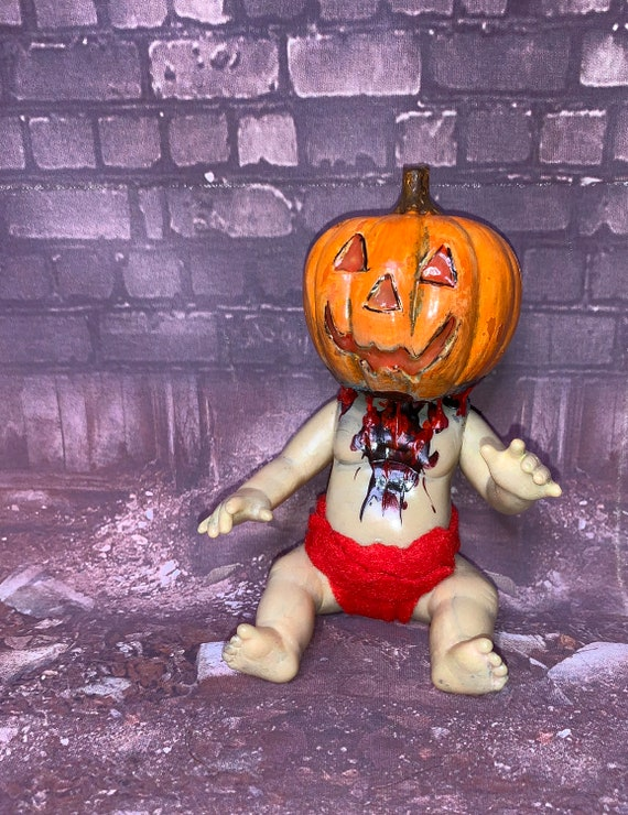 Original Undead Pumpkinhead Holiday Horror Miniature Biohazard Baby