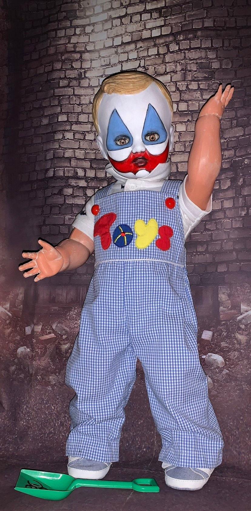 Toddler John Wayne Gacy Face Painted Pogo The Clown