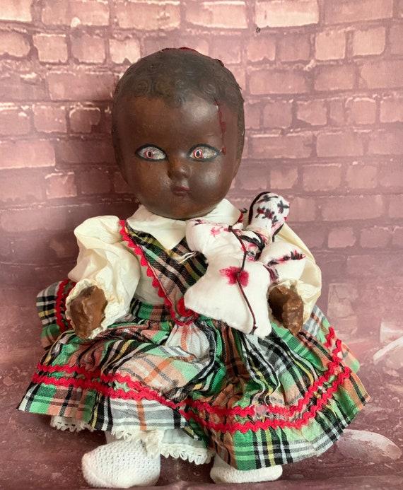 BehNin Abaptis Makutse Original Composite African Innocent Child Blessed Voodoo Culture Spirit Dolls Undead Biohazard Baby