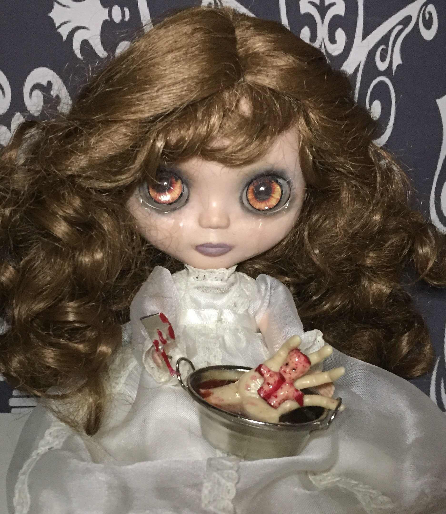 Revenge Blythe Style Doll Fatal Attraction Crying Butcher Knife