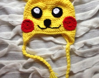 b58acef9bd5 Pikachu knit hat