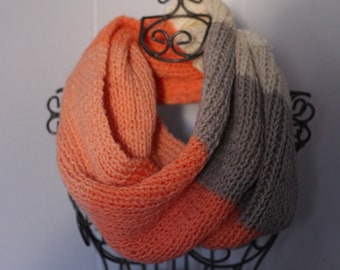 Ombre Scarf, Ombre Cowl, Coral Cowl Nevk Scarf