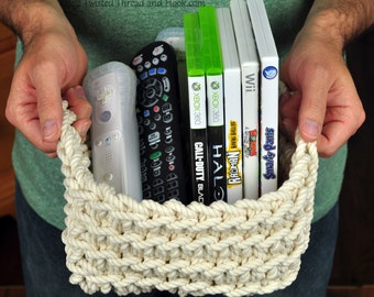 Rope Basket - 3 Sizes - Square Basket - Shelf Organizer