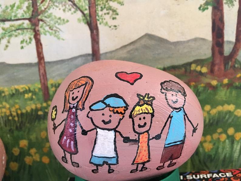 Family Rock Customized Cartoon Family