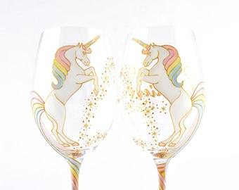 Unicorn Wine Glass