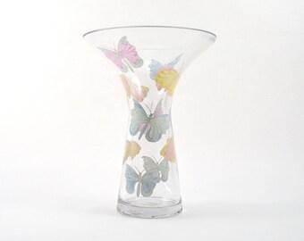 Pastel Butterflies Vase