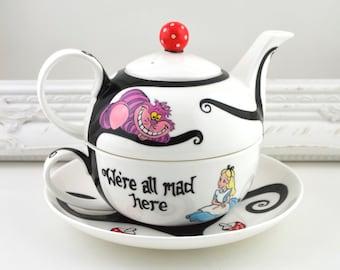 Alice in Wonderland Tea Set For One