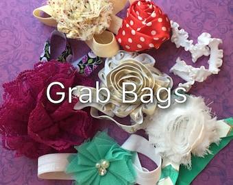 Headband Grab bags- Infant/Children's Headbands: Single Chiffon flowers on elastic headbands I PICK Newborn,Infant,Toddler,Childrens, Girl's