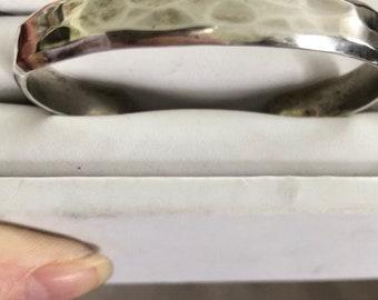 Hammered Sterling Silver Vintage Cuff Bracelet - Vintage Jewelry - Sterling Silver Jewelry - Vintage Sterling Silver Jewelry